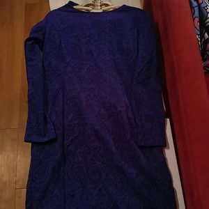 Dark purple sixties dress